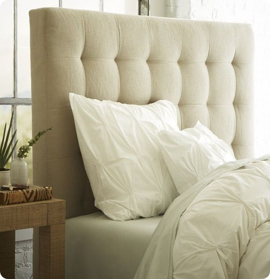Tufted headboard for less than 50 for How to make a tall headboard