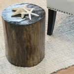 Rustic Tree Stump Side Table