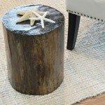 Rustic Tree Stump Side Table