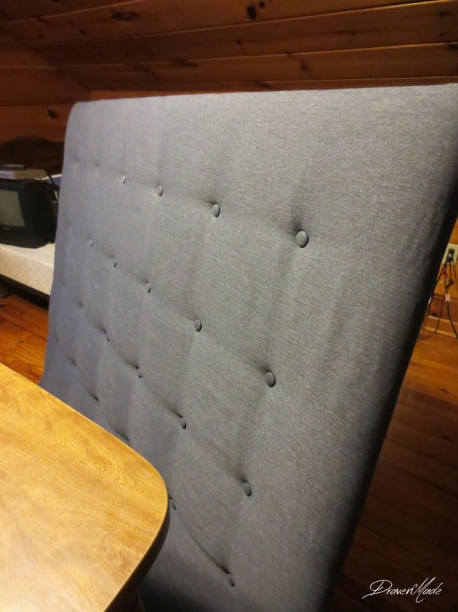 DIY tuft headboard