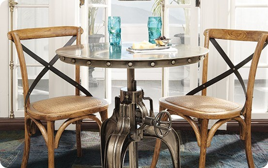 Round Pedestal Table With Nailheads Knockoffdecor Com