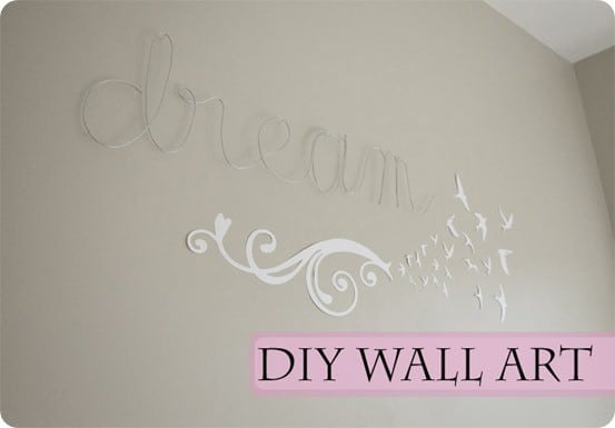 wire word wall art
