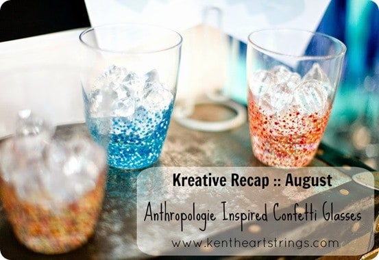 Anthropologie Inspired Confetti Glasses Kreative Recap