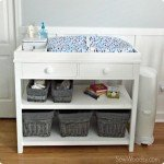 Changing Table with Drawers and Shelves