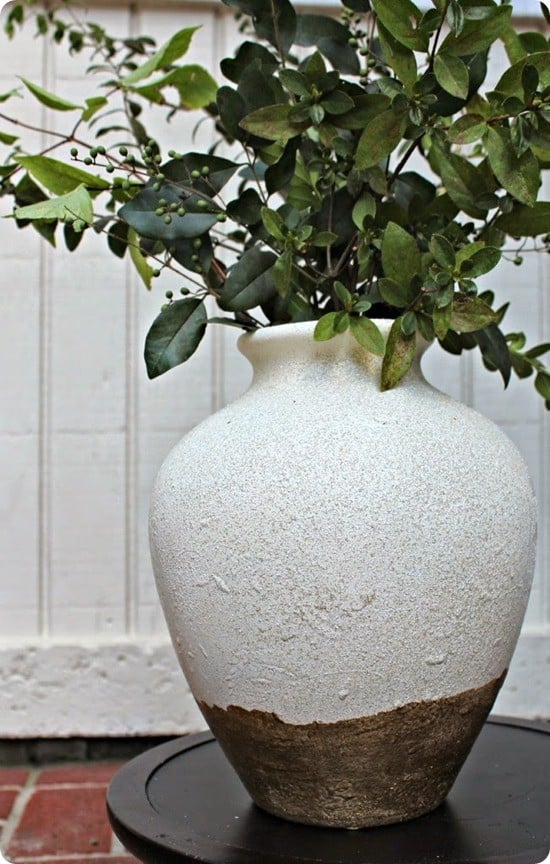 Rustic White And Gold Painted Vase Knockoffdecor Com