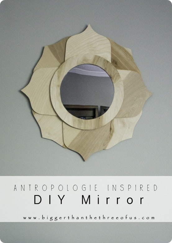 anthropologie inspired flower mirror