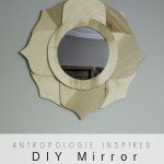 Flower-Shaped Wood Mirror