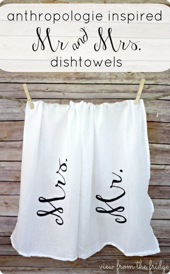 Mr And Mrs Dishtowels For Only 1 Knockoffdecor Com