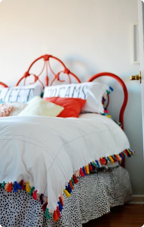 anthropologie inspired tassel duvet cover