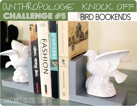 anthropologie knock off bird bookends