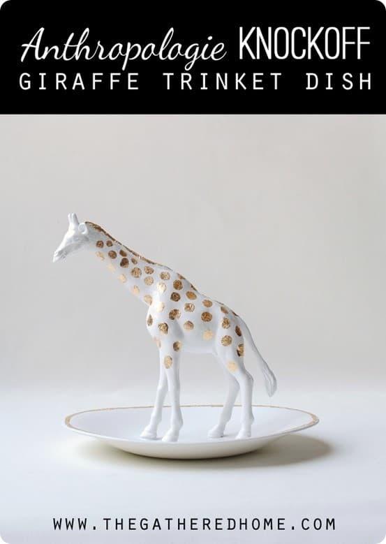 Gold Leaf Giraffe Trinket Dish Knockoffdecor Com