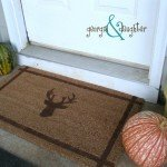 Stenciled Antler Doormat for an Outdoorsy Dad