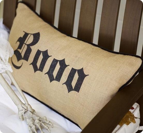 boo lumbar pillow