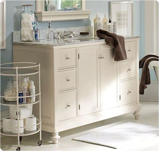 classic turned leg single sink console