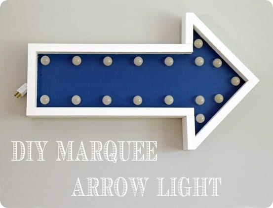 diy marquee arrow light sign