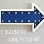 Light Up Marquee Wall Arrow