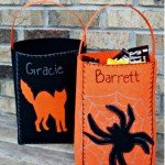 No-Sew Felt Trick-Or-Treat Bags