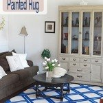 diy painted lattice rug