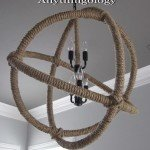 "Rope Orb Chandelier for a ""Man Cave"""