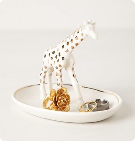 giraffe trinket dish