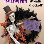 """Happy Hauntings'' Skeleton Wreath"