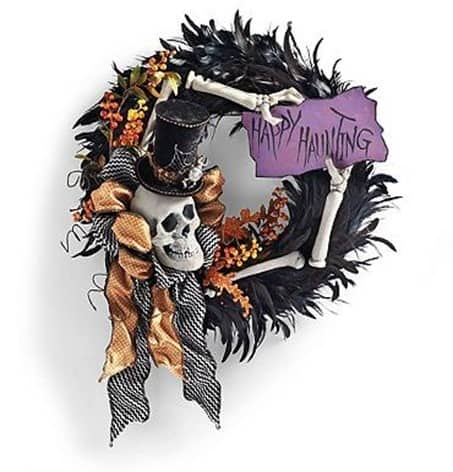 happy hauntings wreath