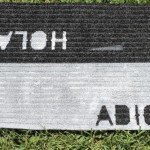 Hello and Goodbye Stenciled Doormat