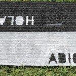 Hello and Goodbye Stenciled Doormat