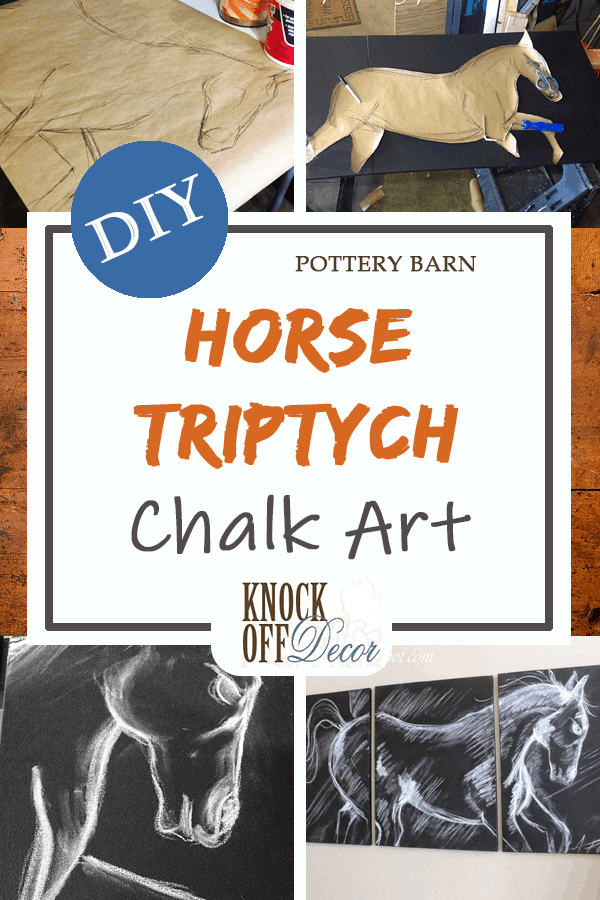 Horse Triptych Artwork Pin