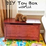 Solid Wood Toy Box with Safety Hinge Lid