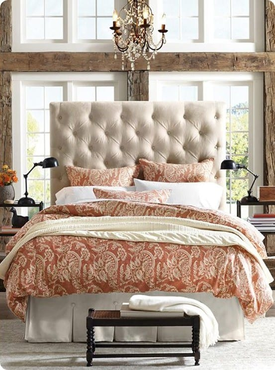 lorraine tufted headboard pottery barn