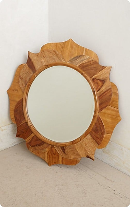 lotus wood mirror