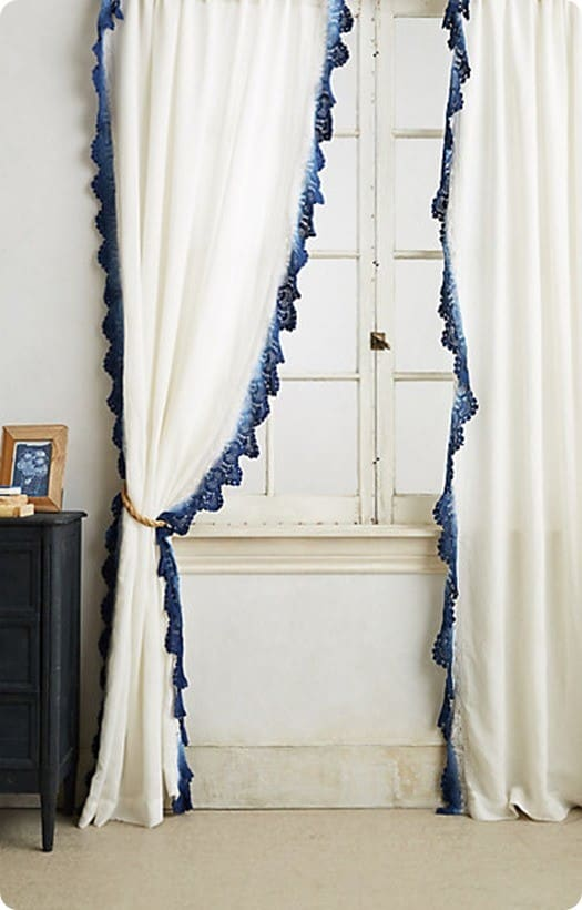 Lace Trimmed Curtain Panels Knockoffdecor Com