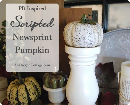 pb inspired newsprint pumpkin