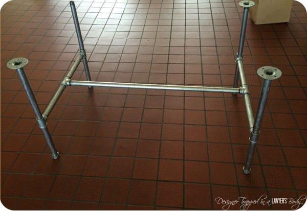 Steel pipe table base