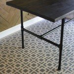 Industrial Pipe Leg Dining Table