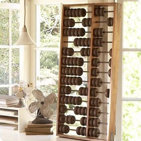 pottery barn giant abacus