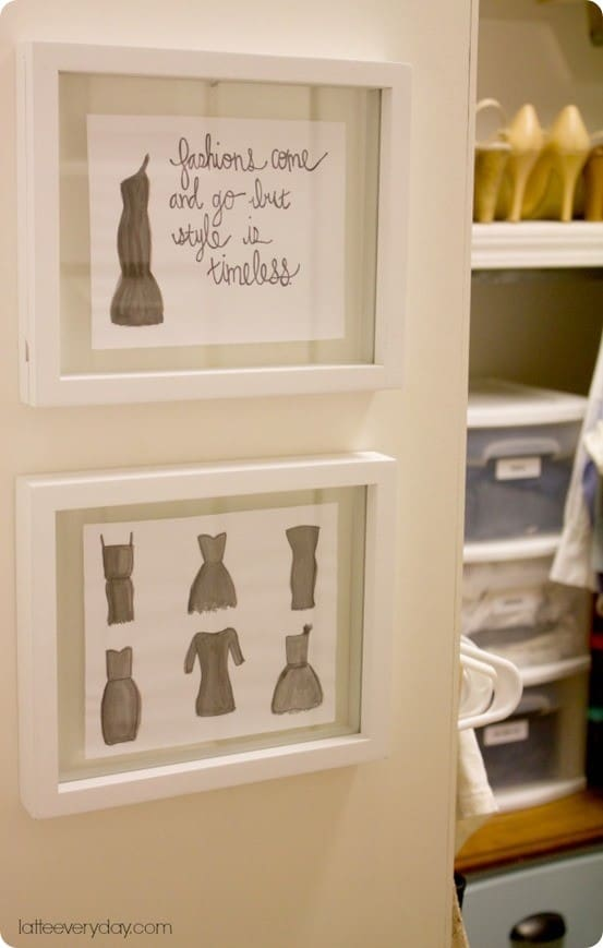 pottery barn inspired fashion closet art