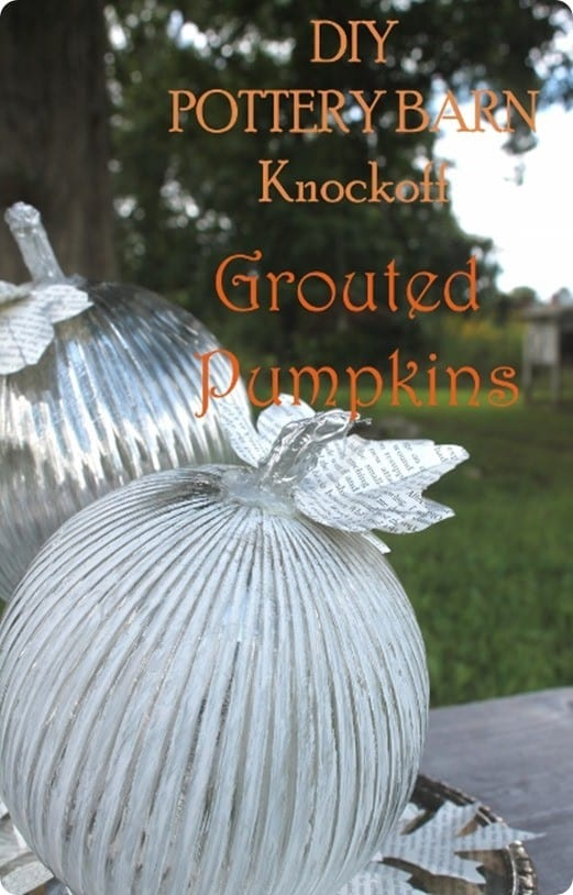pottery barn inspired mercury glass pumpkins