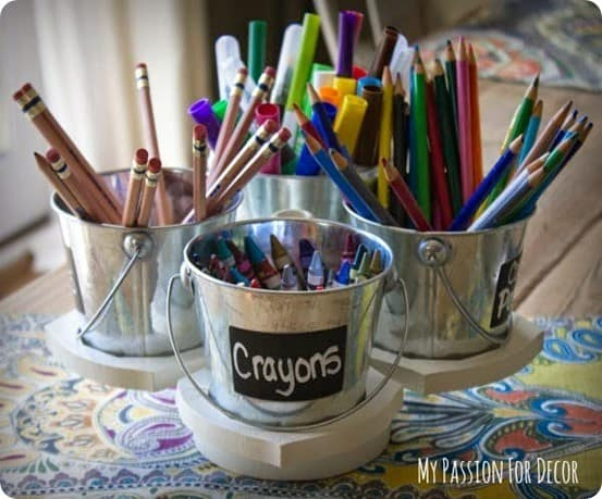 pottery barn kids inspired art caddy