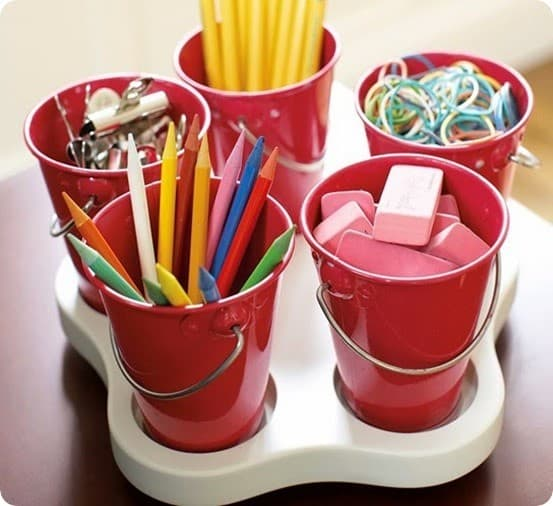 Spinning Art Caddy For Kids Crafts