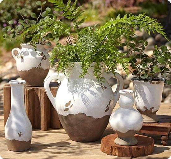 pottery barn tuscan urn and cachepot