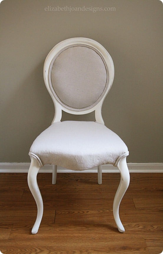 Drop Cloth Upholstered Chair Makeover Knockoffdecor Com