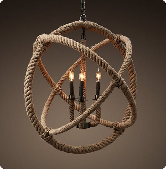 rope planitarium chandelier