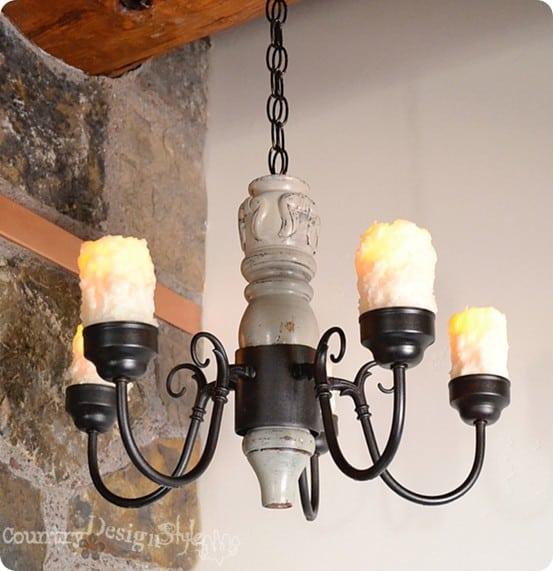 spindle chandelier diy