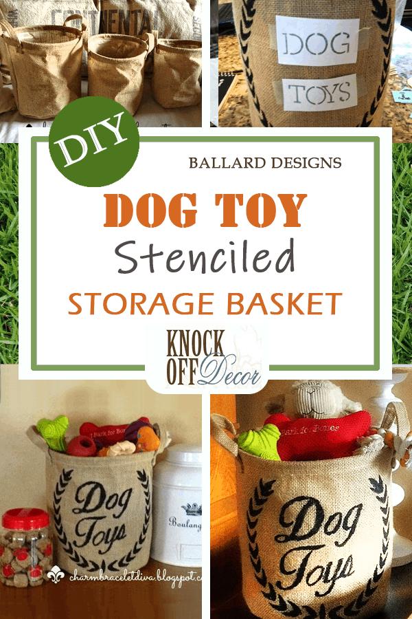 Dog toy storage basket pin