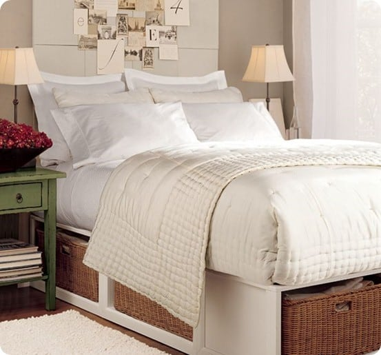 stratton storage bed with baskets & Storage Bed for a Small Space