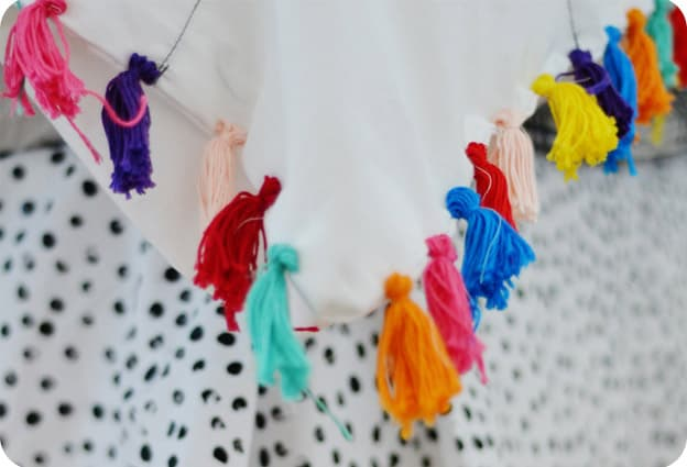 Tassels for duvet cover