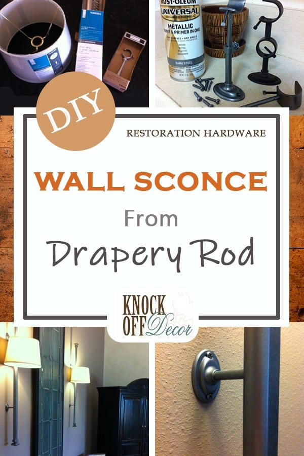 Wall Sconce from Drapery Rod Pin