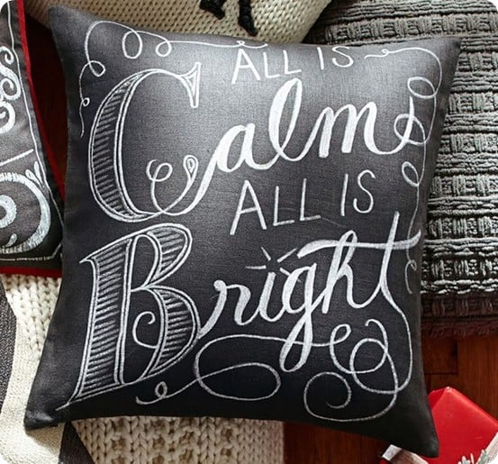 All Is Calm All Is Bright Christmas Pillow from Pottery Barn